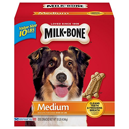 Milk-Bone Original Dog Treats for Medium Dogs, 10-Pound (Bone Dog Biscuit)