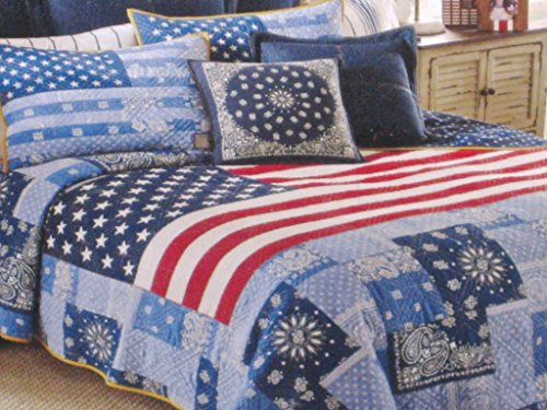 Tommy Hilfiger AMERICAN FLAG PATRIOT QUILT - twin size