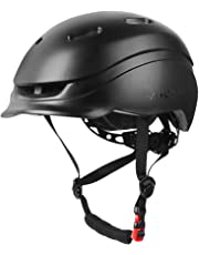MOKFIRE Adult Bike Helmet with Rechargeable USB Light/Thick EPS Foam, Bicycle Helmet CPSC Certified for Urban Commuter Men Women, Adjustable Lightweight Cycling Helmet, 22.44-24 Inches
