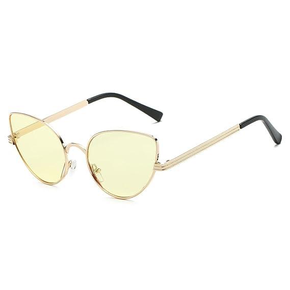 Keepwin Marca Retro Vintage, Gafas De Sol Aviador Hombre Mujer Polarizadas (amarillo): Amazon.es: Ropa y accesorios