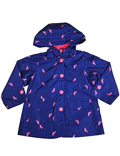 Carter's - Baby Girls' Hooded Cats Rain Jacket, Navy 36664-12Months