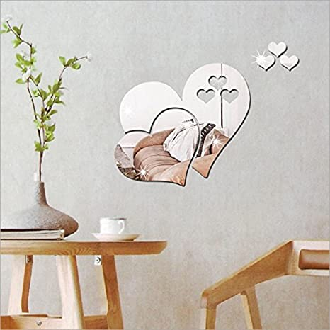 Mode Schmetterling /& Kreise 3D Spiegel DIY Wandtattoos Wandaufkleber 2 Sets