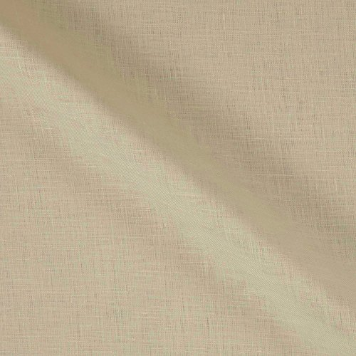 Lino Textile 0562473 100% European Handkerchief Linen Ecru Fabric by The Yard ()