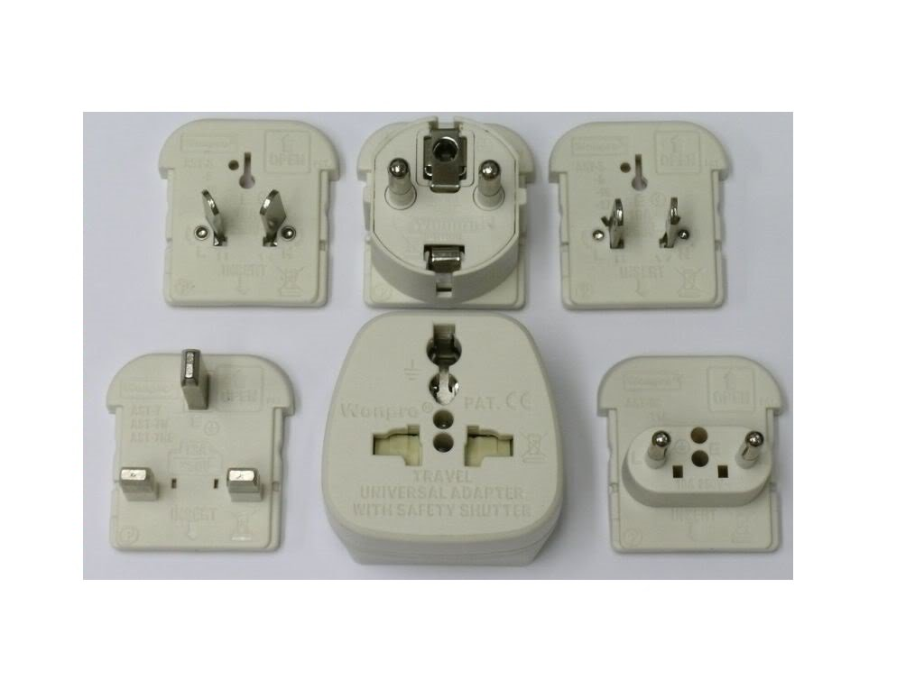 Wonpro All-in-One Universal Travel Plug Adapter Kit Type A/B, C, E/F, G, & I
