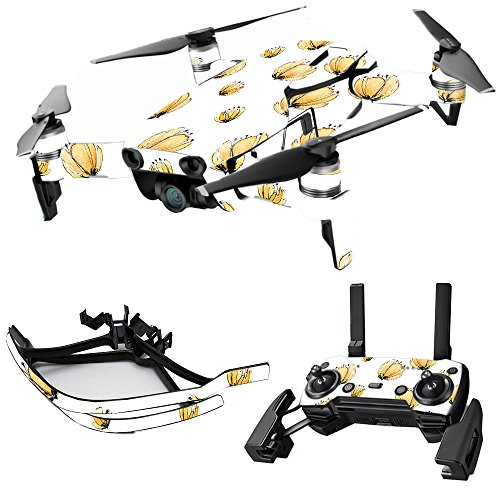 MightySkins Skin for DJI Max Coverage - Yellow Poppy | Protective, Durable, and Unique Vinyl Decal wrap Cover | Easy to Apply, Remove, and Change Styles | Made in The USA