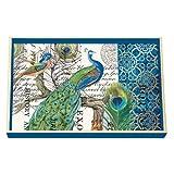 Michel Design Works Peacock Wooden Vanity Tray