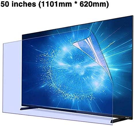 KDJJH 50 Pulgadas Display Anti Arañazos Screen Protector, Protección Ojos Película Protectora Pantalla de proyección Protector de la Pantalla para Televisor,A_1101x620mm: Amazon.es: Hogar
