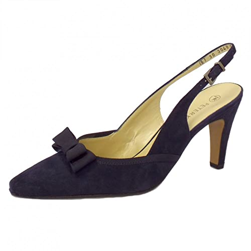 fc74ecf4c5d6 Peter Kaiser Tanina Ladies Slingback Shoes in Navy Suede NOTTE SUEDE 2.5