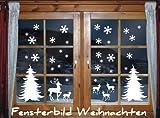 Snowflake themed window stickers