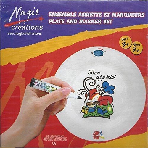 la mejor selección de Magic Creations - Plate and Marker Marker Marker Set (Craft Kit for Ages 3+) by Magic Creations  promociones de descuento