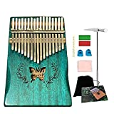 Ationgle Luxury Kalimba - 17 Keys Thumb Piano Include Tuning Hammer and Study Instruction. Unique Gift for Kids Adult Beginners Professionals, Blue Butterfly