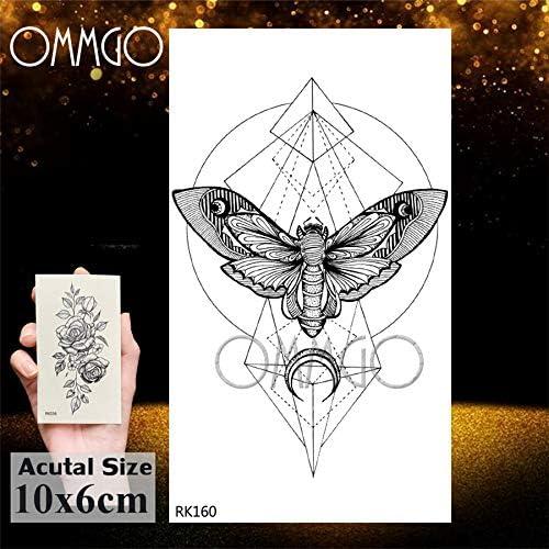 Yyoutop Geométrico Mariposa Polilla Colgante e Tatuajes Pegatina ...