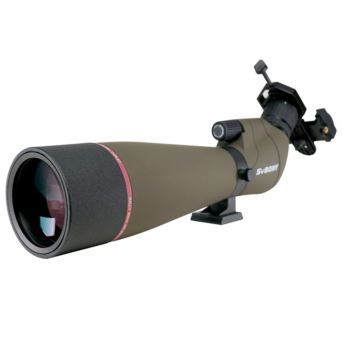 SVBONY SV13 Spotting Scope for Target Shooting Hunting Bird Watching IPX7 Waterproof Bak4 FMC Telescope with Phone Adapter(20-60x80mm Without Tripod) by SVBONY