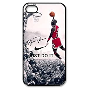 Hipster NBA Chicago Bulls Michael Jordan Apple Iphone 4S/4 Case Cover NIKE JUST DO IT Dunk