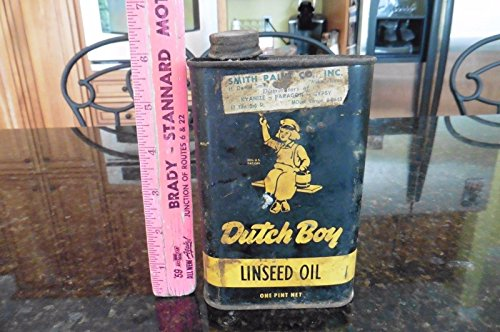 Vintage Raw Brass (Vintage DUTCH BOY Raw Linseed Oil Tin Pint Can NATIONAL LEAD Co.)