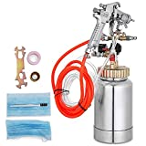VEVOR Paint Tank 2L / 0.5 Gallon Paint Pressure Pot Tank 2.0mm Nozzle Regulator Pressure Pot Paint Sprayer (2L 2.0mm)