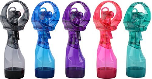: O2cool 8101 Deluxe Battery-operated Handheld Water-misting Fan- Colors May Vary