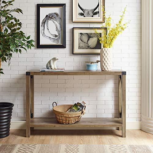 Farmhouse Wood Buffet - WE Furniture AZF46MXETRO Entryway Table, 46