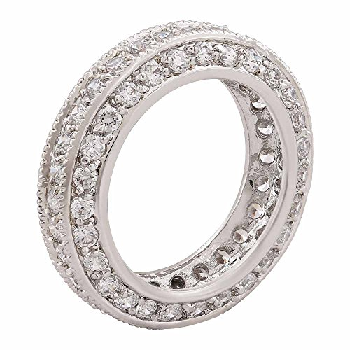 Shaze Rhodium Plated Glitzy Ring by shaze