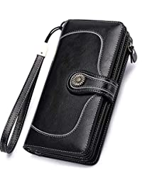 Clutch wristlet,Women's Zip Around Large Capacity Clutch Organizer Wallet