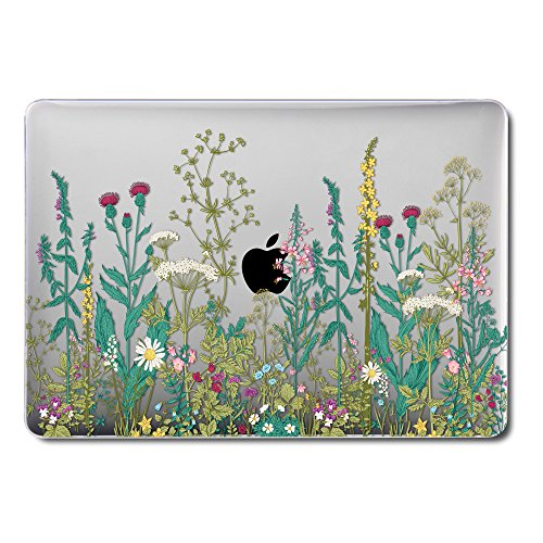 GMYLE MacBook Latest Pro Touch Bar 13 Inch A1989/A1706/A1708 (2016,2017,2018 Release) Case, GMYLE Hard Shell See Through Clear Glossy Scratch Guard Cover Apple Mac Pro 13 - Garden Flower