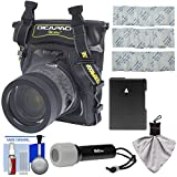 DiCAPac WP-S5 Waterproof Underwater Housing Case with EN-EL14 Battery + LED Torch Kit for Nikon D3300, D3400, D5300, D5500. D5600 Digital SLR Cameras