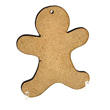 10 X Gingerbread Men Mdf Wooden Blanks For Christmas Craft