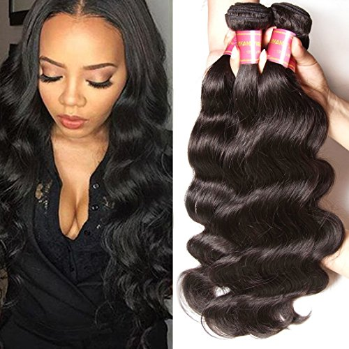 Longqi Hair Brazilian Virgin Human Hair Extension Body Wave 3 Bundles 10 12 14inch Mixed Length 95-100g/Lot Natural Black Color