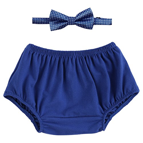 Cake Smash Outfits Baby Boy First Birthday Bowtie Bloomers 2PCS Set Photo Props OBEEII - Dot Bloomer Set