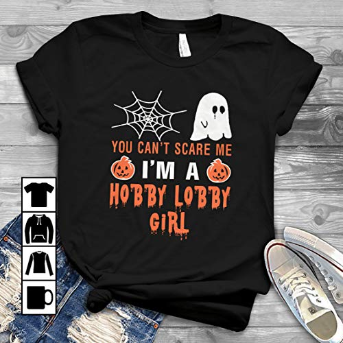 Hobby Lobby Girl Halloween You Can't Scare Me T Shirt Long Sleeve Sweatshirt Hoodie Youth