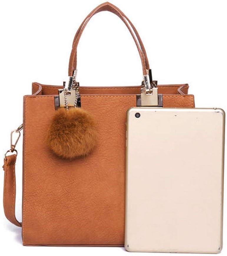 JXHJQY Women Leisure Fur Ball Handbag Shoulder Bag Leisure Crossbody Bag Color : Color Gray, Size : OneSize