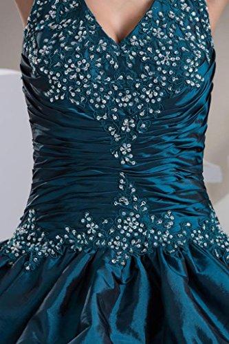GEORGE Halfter Wunderbare Perlen mit BRIDE Appliques dunkelblaue Abendkleid rrEwg5xnq