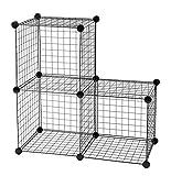 Iris 531138 Wire Cube (1006-3), Black, 3