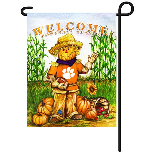 NCAA Clemson Tigers Fall Holiday Garden Flag   B00O2H9I7S, あおもりけん be514612