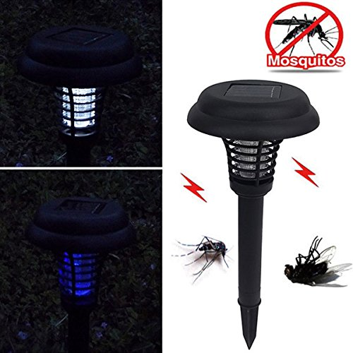 Garden Solar Power LED Mosquito Killer Lamp Yard Plastic Waterproof Lawn Light by My Toots