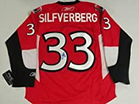 Jakob Silfverberg Signed Reebok Premier Ottawa Senators Jersey - Autographed NHL Jerseys