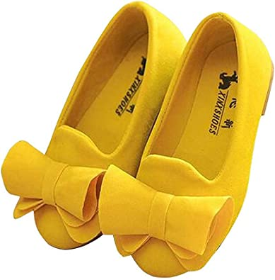 BININBOX Girls Bowknot Flat Shoes