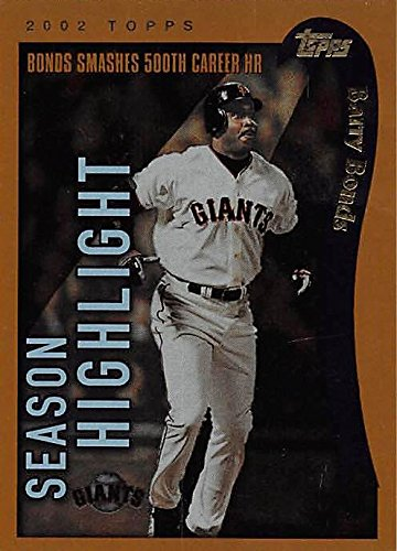 Barry Bonds baseball card (San Francisco Giants) 2002 Topps #332 500th Career Home Run