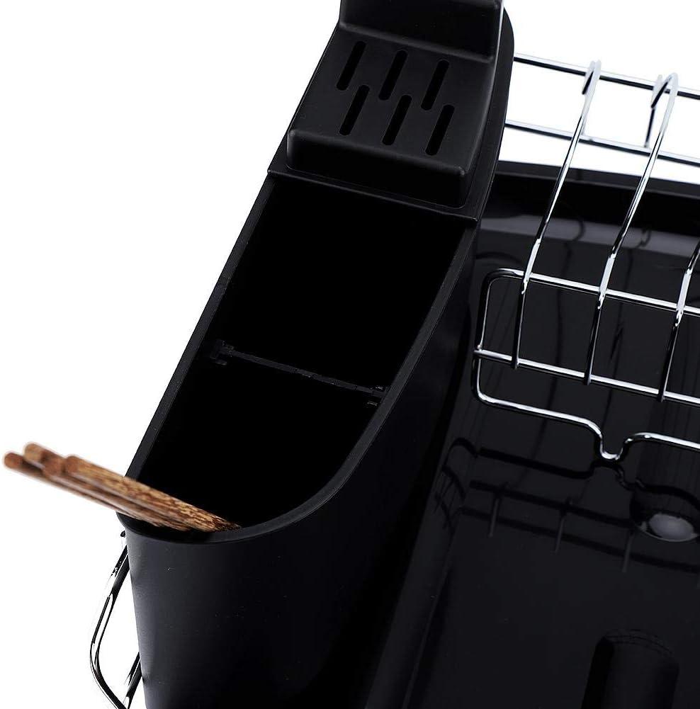 40,5 x 41 x 30 cm Scolapiatti e Scolaposate per stoviglie Scaffale da cucina cromato Stendino per Piatti con Portautensili da Cucina Scolapiatti da appoggio lavello