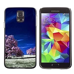 All Phone Most Case / Oferta Especial Duro Teléfono Inteligente PC Cáscara Funda Cubierta de proteccion Caso / Hard Case Samsung Galaxy S5 // Purple Fields
