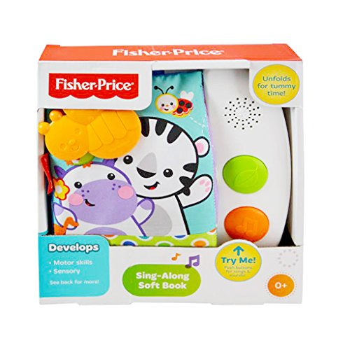 Fisher Price – Sing-Along Soft Book with Sounds for Baby Education