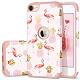 iPod Touch 5 Case,iPod Touch 6 Case Summer,Fingic Pineapple&Flamingos Pattern Cute Case Hard