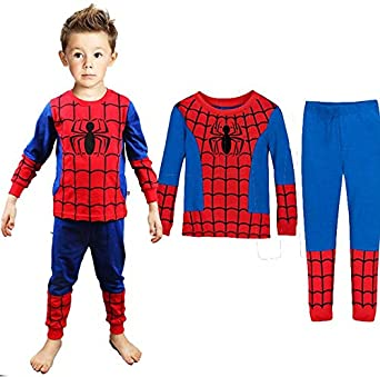 bba0f941443 Spiderman Baby Boys Clothing Sets Children Kids Summer Pajamas Child Clothes