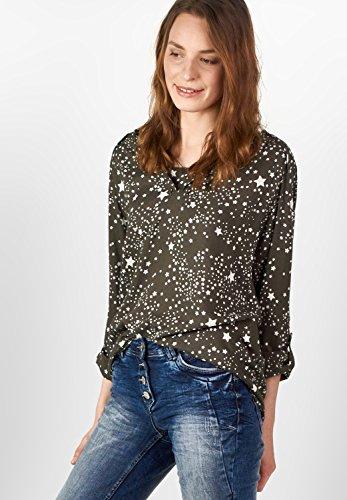 Cecil - Camisas - Estrellas - Manga Larga - para mujer Oliv (deep olive)