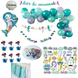 Mermaid Party Decorations :: Mermaid Birthday Decorations, Mermaid Photo Booth Props :: Complete Set