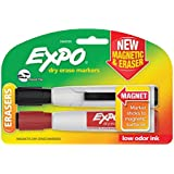 Expo Magnetic Dry Erase Markers with Eraser, Chisel Tip, Assorted, 2-Pack (1944725)