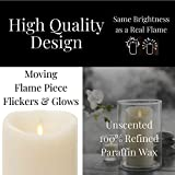 Liown Flameless LED Real Wax Candle with Timer
