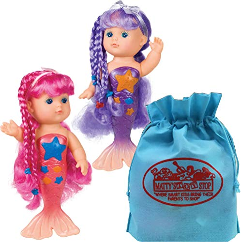 Toysmith Magical Mermaid Bathtime Dolls (9
