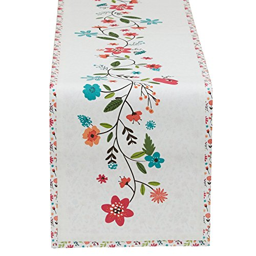 Design Imports Garden Party Floral Spring Time Table Runner 13 x 72 (Garden Party) Spring Table Runner