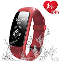 Fitness Tracker Heart Rate Monitor Watch, Letscom IP67...